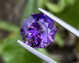 Natural Amethyst 5.51 Cts Excellent Fancy Cut Gemstone