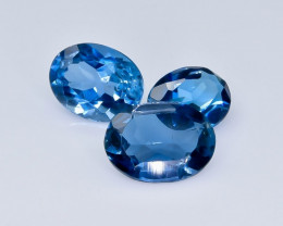 4.59 Crt London Blue Topaz Faceted Gemstone (Rk-17)