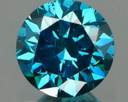 *NR*Blue Diamond Round Brilliant 0.50Ct