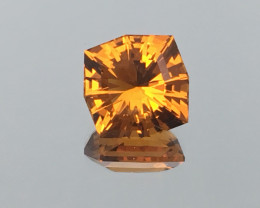 6.49 Carat VVS Citrine Madeira Gold Colored Master Cut Exquisite