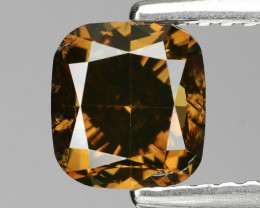 Chocolate Diamond 1.50 Cts Natural Fancy Color