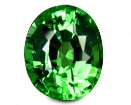 Tsavrite Garnet 0.72 Cts  Vivid Green Step cut BGC1153 | From Tanzania