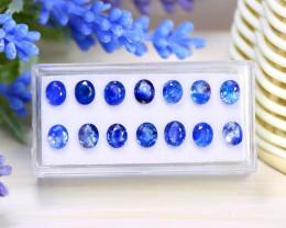 Sapphire 8.81Ct Oval Cut Natural Australian Blue Sapphire Lot Box B1612