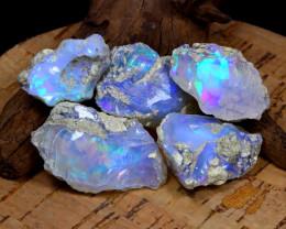 Welo Opal Rough 84.35Ct Natural Ethiopian Flash Color Rough Opal B1625