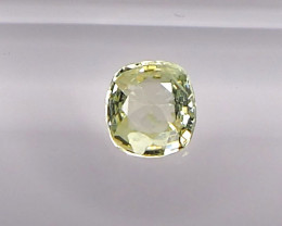 0.99ct unheated yellow sapphrie