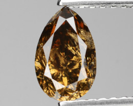*NoReserve*Diamond 0.95 Cts Untreated Natural Fancy Honey Cognac Color