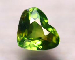 Unheated Sapphire 1.06Ct Natural Heart Shape Teal Sapphire D1513/B9