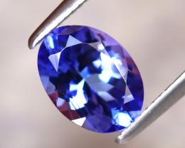 Tanzanite 1.38Ct Natural VVS Purplish Blue Tanzanite D1522/A45