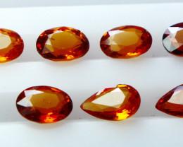 NR!!! 4.10 Cts Natural & Unheated~ Orange Garnet Gemstone Lot