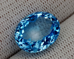 12.35CT BLUE TOPAZ  BEST QUALITY GEMSTONE IIGC57