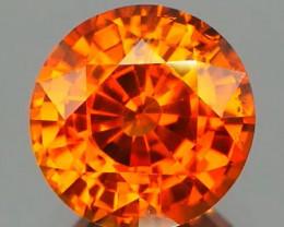 *NR* Orange Zircon Step Cut Round 1.88Ct