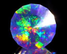 ContraLuz 8.46Ct Round Cut Mexican Very Rare Species Opal C1705