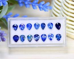 Sapphire 8.33Ct Pear Cut Natural Australian Blue Sapphire Lot Box C1718