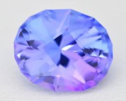 Tanzanite 3.41Ct VVS Master Cut Unheated Purplish Blue Tanzanite C1722