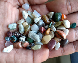 200 Ct Tumbled Gemstones Mix Lot 100% NATURAL AND UNTREATED VA113