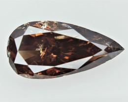1.36 cts  ,  Pear Brilliant Cut Diamond , Elongated pear cut Diamond