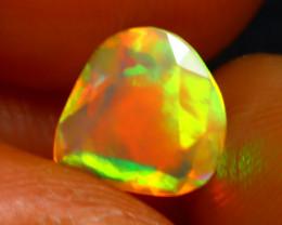 Welo Opal 0.80Ct Natural Ethiopian Play of Color Opal E1622/A44