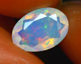 Welo Opal 1.12Ct Natural Ethiopian Play of Color Opal E1630/A44