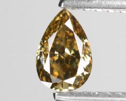 *No Reserve*Diamond 0.36 Cts Orange Brown Color Natural Diamond