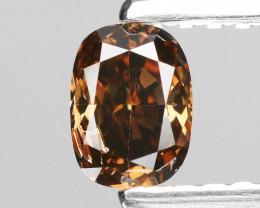 *No Reserve*Diamond 0.35 Cts Reddish Brown Color Natural Diamond