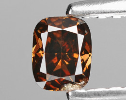 *NoReserve*Diamond 0.31 Cts Reddish Brown Color Natural
