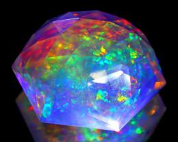 ContraLuz 16.98Ct Precision Cut Mexican Very Rare Species Opal B1902