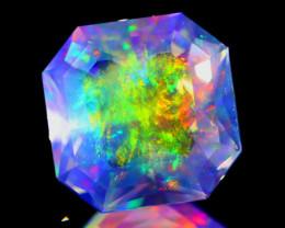ContraLuz 4.48Ct Square Cut Mexican Very Rare Species Opal B1914