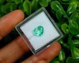 Emerald 1.29Ct Colombian Muzo Emerald Neon Mint Green Beryl B1916