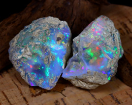 Welo Opal Rough 117.20Ct Natural Flash Color Rough Opal Specimen B1928