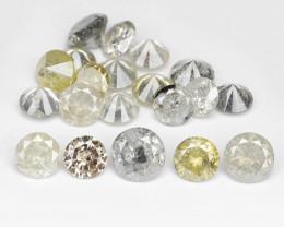 *NoReserve*Diamond 2.06 Cts 21pcs Multi Color Natural
