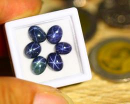 11.31ct Natural 6 Rays Star Black Sapphire Lot  B3614