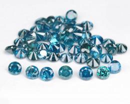 Diamond 1.75 Cts 52Pcs 1.9mm Sparkling Blue Color Natural