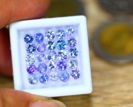 6.75ct Natural Violet Blue Tanzanite 3.9mm Round Cut Lot  B3626
