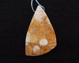 P0237 - 82cts Natural Indonesian Fossil Coral Pendant,Natural Gemstone Pend