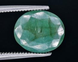 3.19 Crt Emerald Faceted Gemstone (Rk-18)