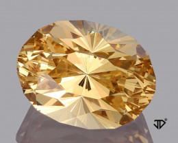 5.50 Carat IF Golden Beryl Master Cut Regal Radiant John Dyer World Class !