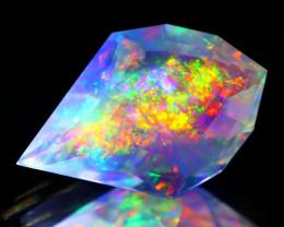 ContraLuz 4.93Ct Fancy Cut Mexican Very Rare Species Opal C2008