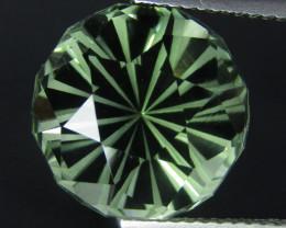 10.45Cts Stunning Natural Green Amethyst (prasiolite) Round precision Cut R
