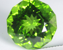 15.14Cts Genuine Excellent Natural Peridot 15mm Round Custom Cut REF VIDEO