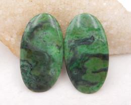 D1615 - 165cts african jade earrings pair,natural handmade gemstones