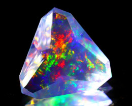 ContraLuz 4.22Ct Trillion Cut Mexican Very Rare Species Opal A2027