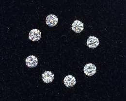 1.4mm D-F Brilliant Round VS Loose Diamond 8pcs