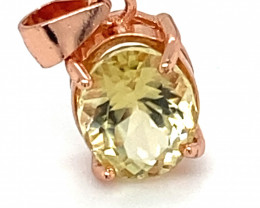 Canary Yellow Tourmaline 1.70ct Rose Gold Finish Solid 925 Sterling Silver