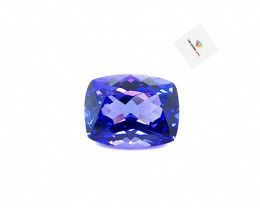 4.38(ct) Perfectly Cut Purplish Blue Color Tanzanite Faceted Gem