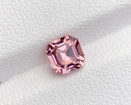 ~No Reserve~0.90(ct) Baby Pink Color Asscher Cut Congo  Tourmaline