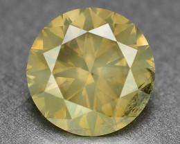 Diamond 0.78 Cts Yellowish Grey Color Natural