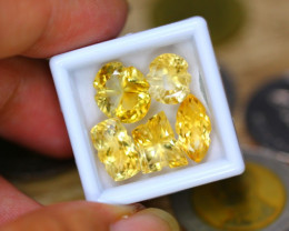 18.33ct Natural Yellow Citrine Fancy Cut Lot LZ7854