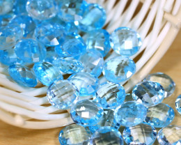 Blue Topaz 203Ct 52Pcs Pixalated Cut Natural Swiss Blue Topaz A2103
