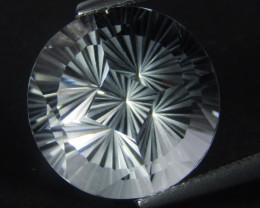 12.60Cts Genuine Amazing Unheated Round  Precision Cut White Topaz See VIDE
