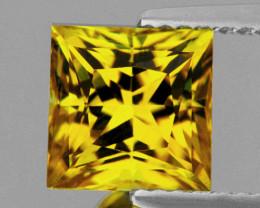 3.70 mm Square Princess 0.39ct Ceylon Yellow Sapphire [VVS]